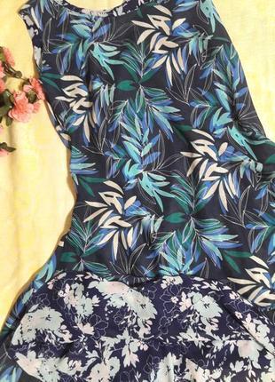 Двухстороннее шелковое платье цветочный принт damart