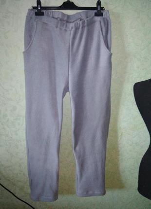 Флисовые домашние штаны
