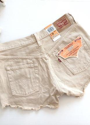 Шорты джинсовые бежевые levi's