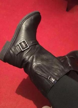 Кожаные ботинки осень clark's