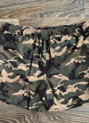 Модные хаки шорты шортики в камуфляжный принт (унисекс) от cedar wood state