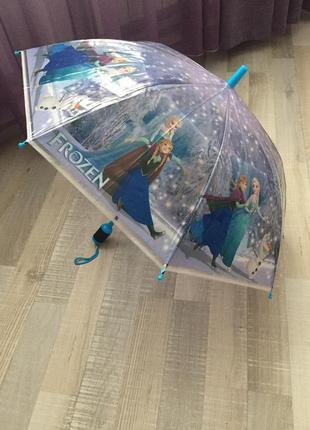 Детский зонт трость ельза и анна