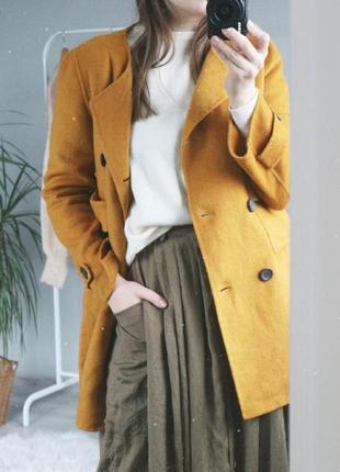 Яркое пальто на весну (в составе шерсть)