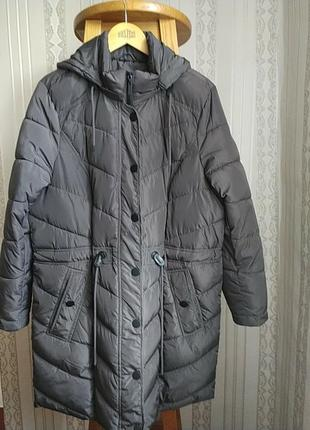 Супер ! отличная женская  демисезонная удлиненная куртка большого размера gina laura