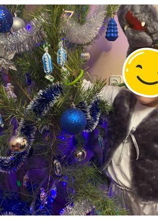 Серый новогодний карнавальный костюм волка