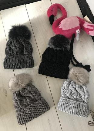 Тёплые шапки на флисе