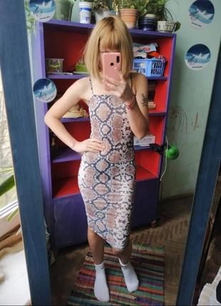 Платье в животный принт платье силуэт размер ххс -хс