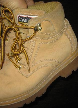 Ботинки сапоги р-р 38-39 кожа нубук timberland road mate adventure
