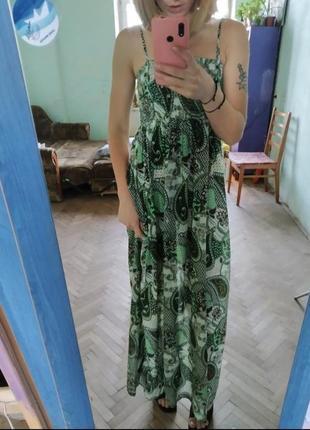 Платье в пол длинное платье сарафан длинный хс-с