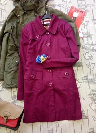 Шикарный стильный плащ, пальто изумительного цвета! clockhouse. размер 14-16