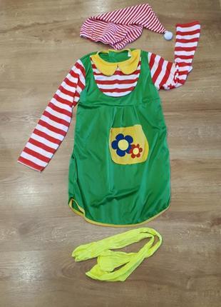 Карнавальный наряд клоуна для девочки