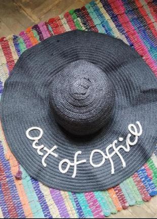 Шляпа с большими полями шляпа плетенная
