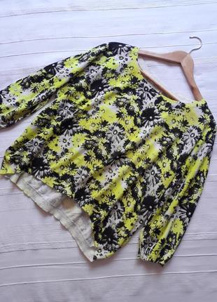 Numph фирменный#летний#яркий#цветочный джемпер#свитер#свитшот#кофта в цветы оверсайз.