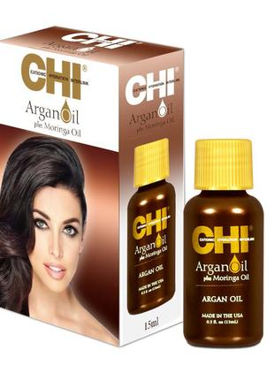 Масло для волос chi argan oil plus moringa oil 15 ml