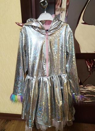 Карнавальный костюм платье единорог, единорожка