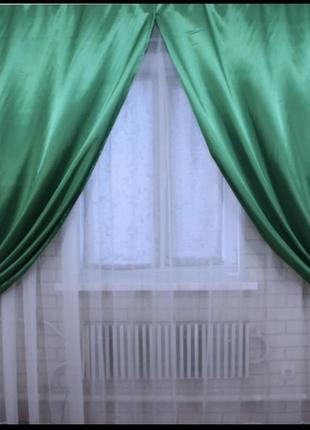 Атласные готовые шторы
