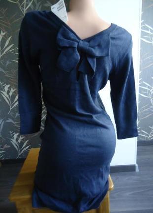 Теплое платье с бантом h&m, р. s