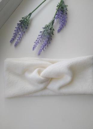 Чалма молочной цвет повязка на голову тюрбан аксессуары для волос