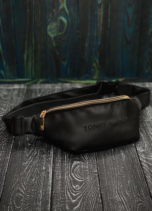 Новая шикарная бананка сумка кожа pu / tommy /поясная сумка-клатч на пояс