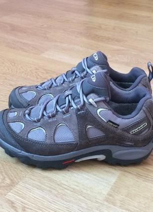 Замшевые кроссовки salomon с мембраной gore-tex 37 размера