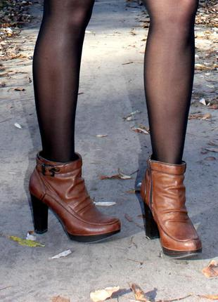Кажаные сапоги carnaby, ботинки, коричневые сапоги