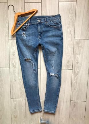 Стильные джинсы узкачи для парня!бренд!