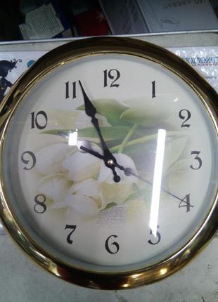 Часы настенные gotime  2741f с тихим механизмом