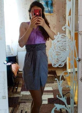 #розвантажуюсь платье мини серо-лиловое