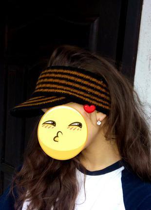 Вязанный козырек, кепка, шапка