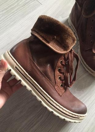 Кожаные сапоги ботинки bama