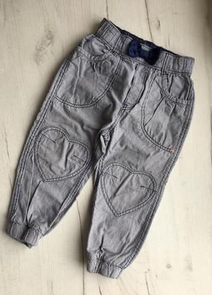 Джинсы штаны брюки для девочки 1-2 г, h&m в полоску, джинси штани для дівчинки 1-2 р.