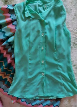 Летняя блузка, нежная блуза, блузка из шифона
