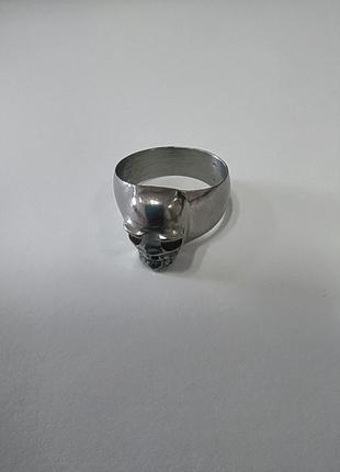 Перстень кольцо с черепом, металлический. 19,5-20 размер