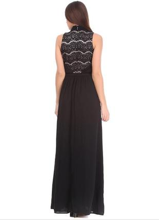 Платье вечернее в пол чёрное