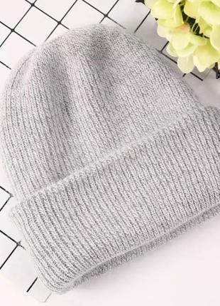 Крутая теплая шерстяная шапка двойная ‼️ не колючая