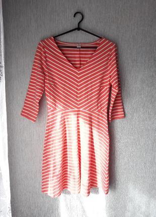 Котонова сукня у полоску.