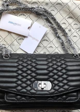 Новая сумка zadig&voltaire skinny love mat scales bag