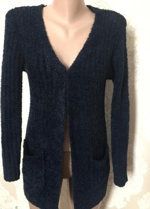 Мягкий свитер/ кардиган/ длинная кофта xs-s