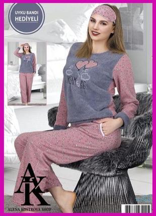 Очень уютная флисовая пижамка 60230 турция