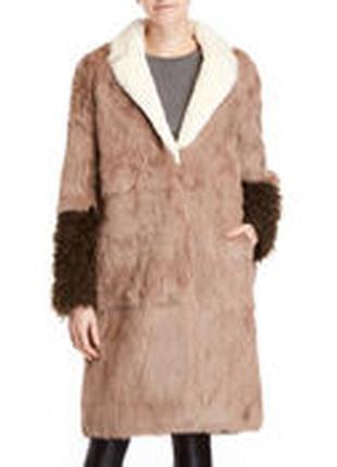 Шикарная шуба пальто из натурального меха
