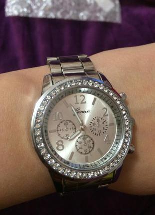 1a79ffe4a802 Женские часы geneva silver, цена - 170 грн,  3784927, купить по ...