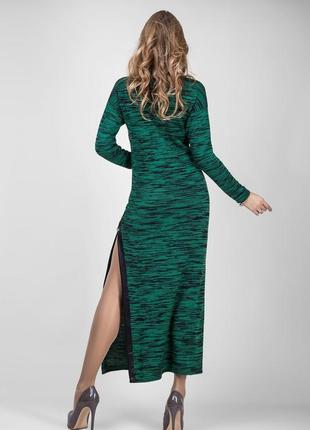 Стильное длинное вязаное платье bellis