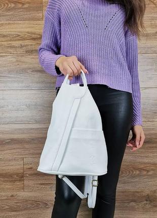 Оригинальный рюкзак vera pelle, натуральная кожа! италия!