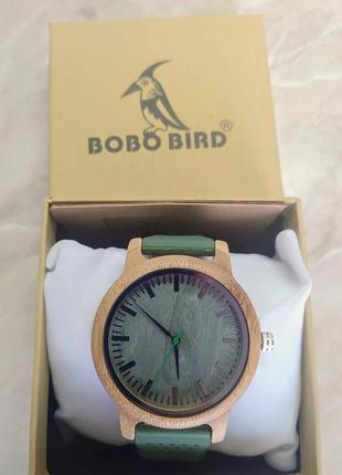 Новые зеленые кварцевые часы унисекс на силиконовом ремешке bobo bird