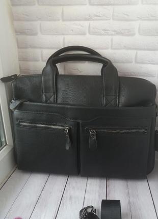 Кожаный портфель мужской кожаная сумка чоловічий шкіряний
