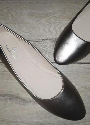 Балетки туфли лоферы женские  баталы низкий ход2 фото
