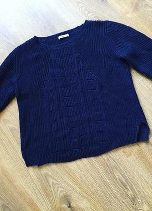 Тепла кофта, свитер, темно синий свитер.