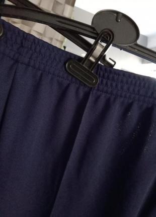 Синие женские брюки со стрелками,большой размер