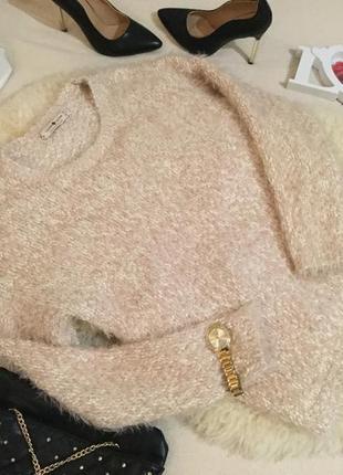 Супер нежная и романтичная кофта свитер пудрового цвета в самую уютную травку🍬👑🌸