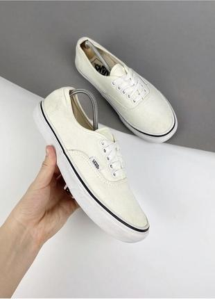 Кеды vans authentic молочные